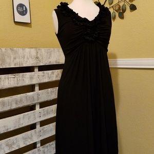 Tiana B. Black Ruffle  Neck Dress Size S